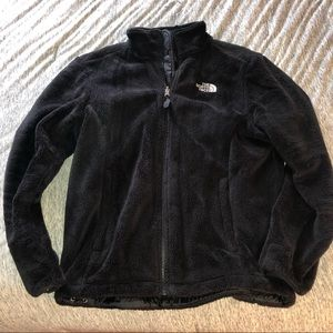Black North Face fluffy soft cozy jacket